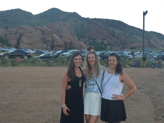 My friends Brittany, Olivia, and I before Alt- J